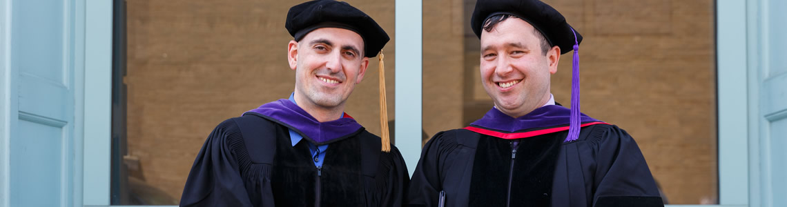 Interim Dean Bam and Sean Turley