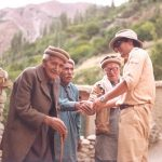 Professor Norchi with village elders