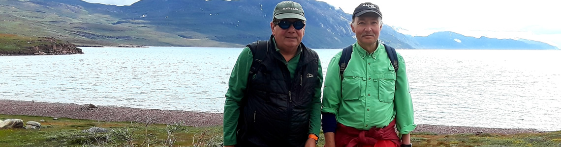 Professors Charles Norchi and Jeff Thaler in Greenland