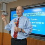 Prof. Thaler teaching at Hebei Normal University