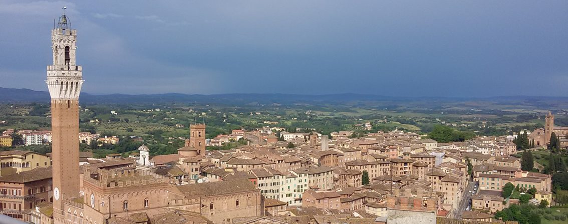 Countryside from observation area of the Siena Cathedral