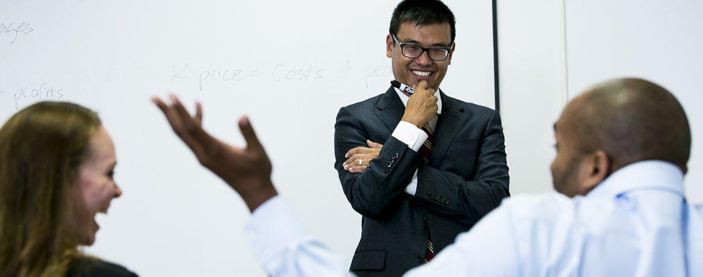 Associate Professor Richard Chen in the classroom