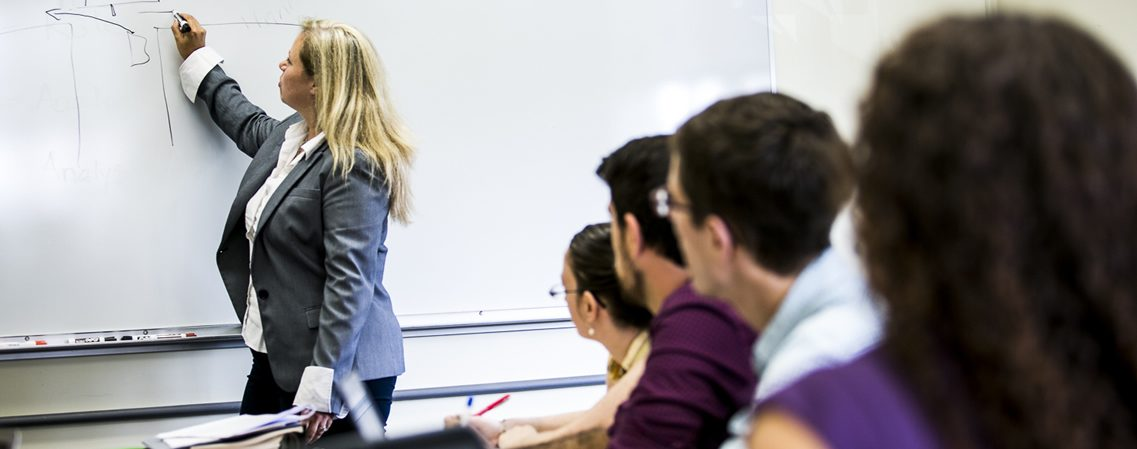 Prof. Sara Wolff in the classroom