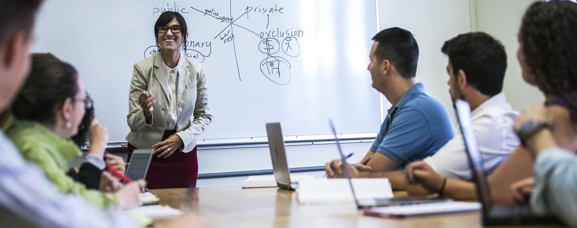 Associate Dean Sarah Schindler in the classroom